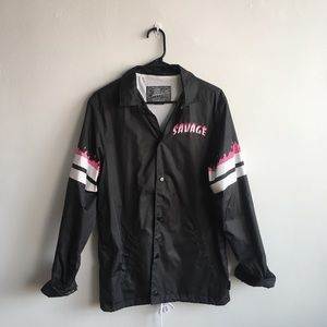 "Other - Brooklyn Cloth ""Savage"" black track jacket"